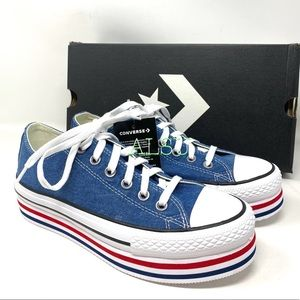 Converse CTAS Platform Layer OX Mason Blue Women's